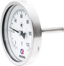 Коррозионностойкие биметаллические термометры БТ, серия 220 (осевое присоединение)