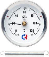 Термометры биметаллические спружиной для крепления натрубе БТ, серия 010